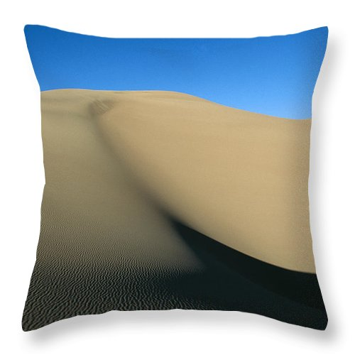 North America Throw Pillow featuring the photograph Rippled Sand Dunes In Great Sand Dunes by Michael S. Lewis