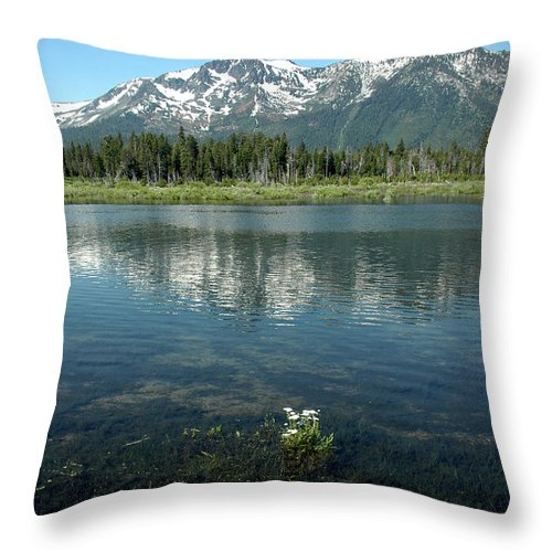 Usa Throw Pillow featuring the photograph Ripples On Lake Of Mt Tallac by LeeAnn McLaneGoetz McLaneGoetzStudioLLCcom