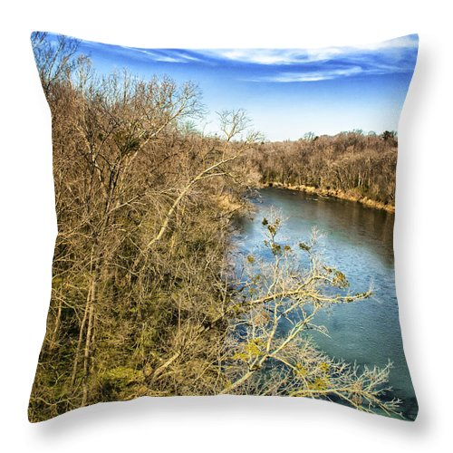 Alexandria Throw Pillow featuring the photograph River Crossing Virginia by Jim Moore