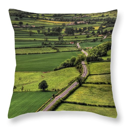 Road Throw Pillow featuring the photograph Road Of Thousand Dreams by Evelina Kremsdorf