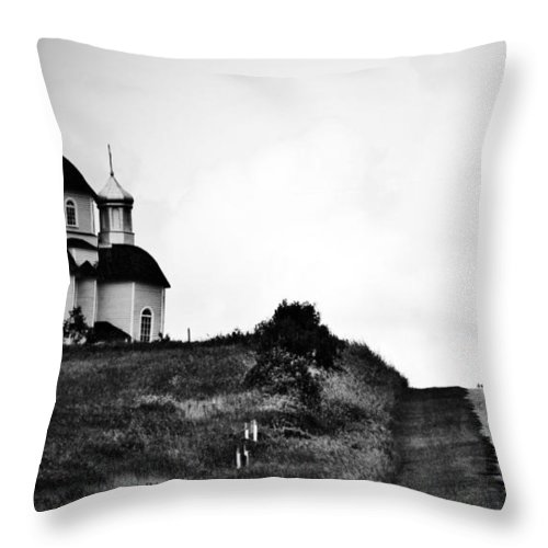 Rural Decay Throw Pillow featuring the photograph Road To Answers by The Artist Project