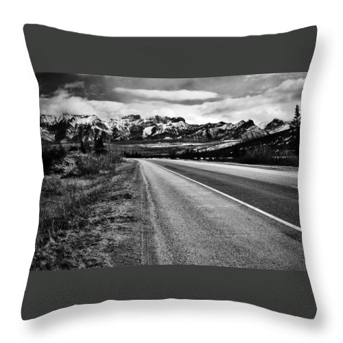 Street Photography Photographs Framed Prints Photographs Framed Prints Throw Pillow featuring the photograph Road To Rocks by The Artist Project