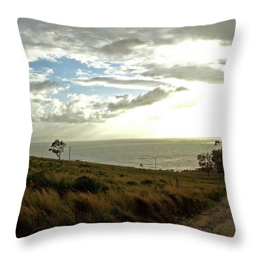 Water Throw Pillow featuring the photograph Road To The Ocean by La Dolce Vita