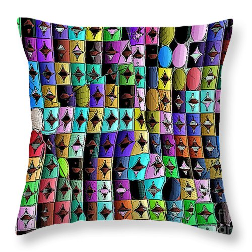 Ebsq Throw Pillow featuring the digital art Roads To Oz by Dee Flouton