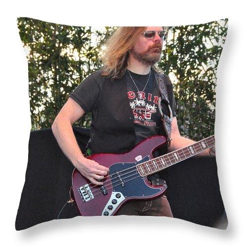 Lynyrd Skynyrd Throw Pillow featuring the photograph Robert Kearns - Lynyrd Skynyrd by John Black