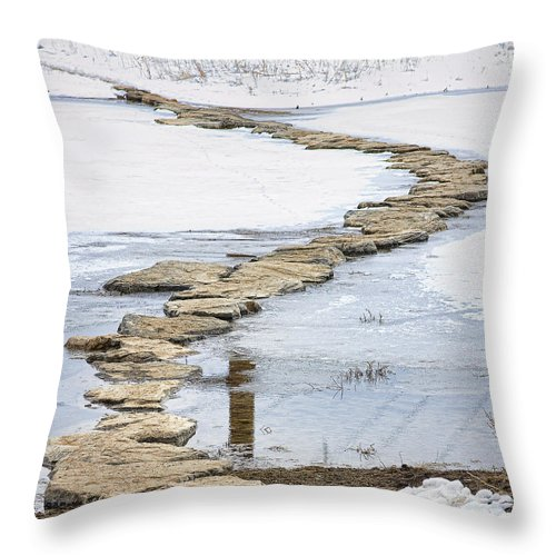 Crossing Throw Pillow featuring the photograph Rock Lake Crossing by James BO Insogna