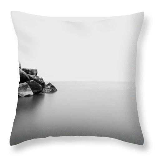 Www.cjschmit.com Throw Pillow featuring the photograph Rock Water One by CJ Schmit