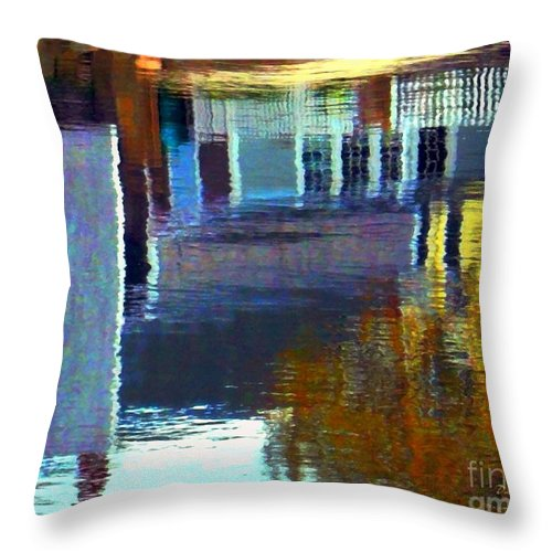Water Throw Pillow featuring the digital art Rockport Reflections by Dale Ford