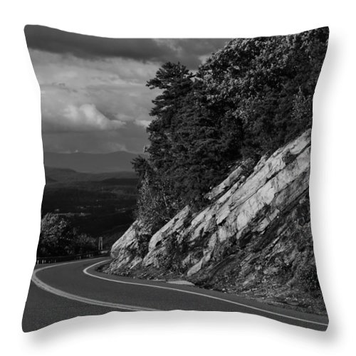 Road Throw Pillow featuring the photograph Rocky Road by Sharon Gihr