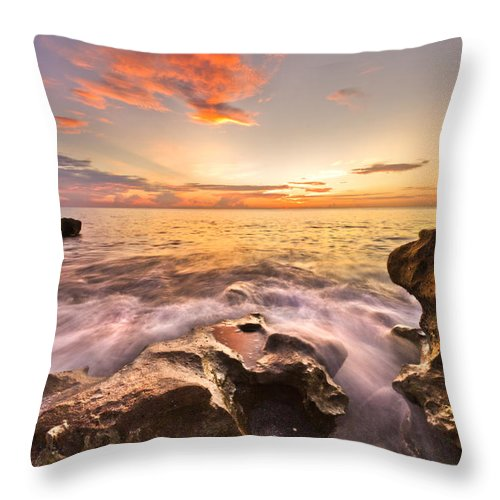 A1a Throw Pillow featuring the photograph Rocky Surf by Debra and Dave Vanderlaan