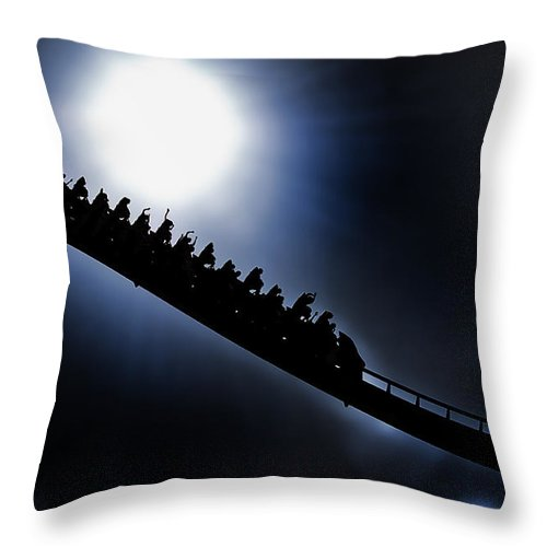 Kings Island Throw Pillow featuring the photograph Rollerghoster by Sheri Bartoszek