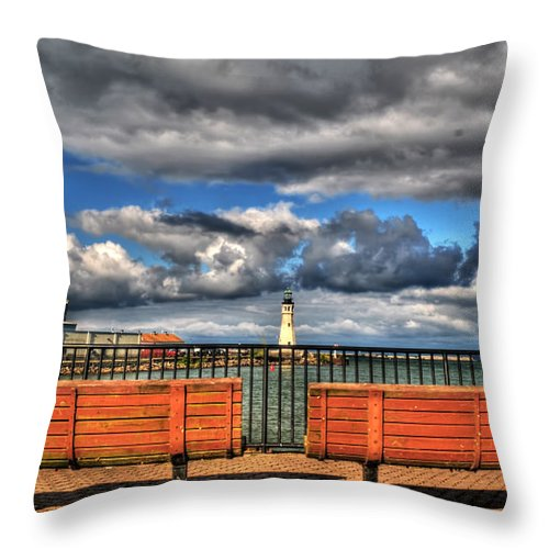 Throw Pillow featuring the photograph Romantically Empty As I Wait by Michael Frank Jr