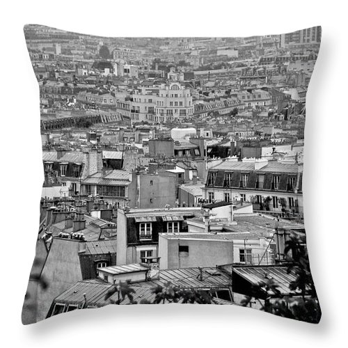 Paris Throw Pillow featuring the photograph Roof Tops Of Paris by Eric Tressler