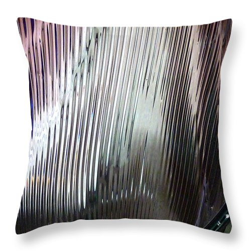 Glass Throw Pillow featuring the photograph Rose Colored Glasses by Newel Hunter
