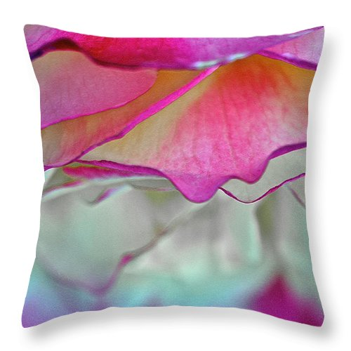 Rose Throw Pillow featuring the photograph Rose Folds II by Bill Owen