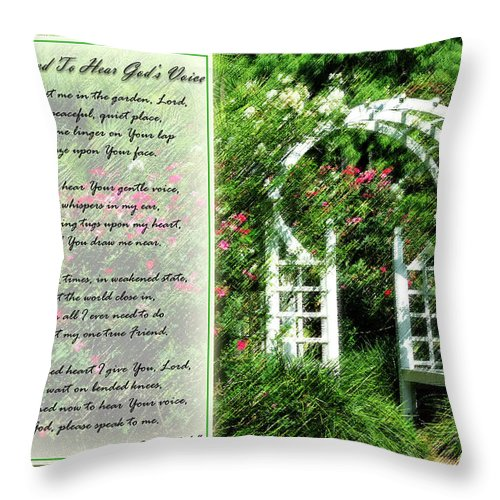 Rose Throw Pillow featuring the photograph Rose Garden by Carolyn Marshall