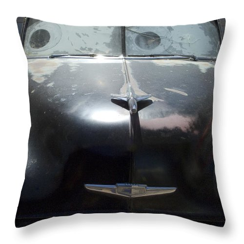 Original Throw Pillow featuring the photograph Route 66 And The Cars Movie by Bob Christopher