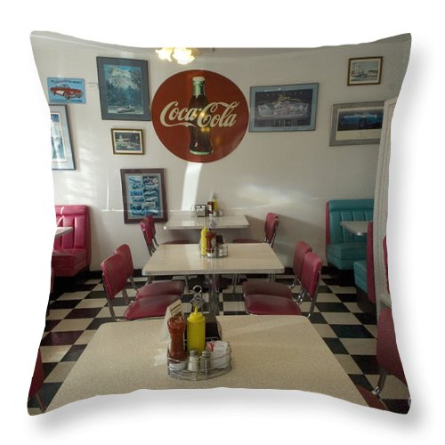 Flames Throw Pillow featuring the photograph Route 66 Burgers by Bob Christopher