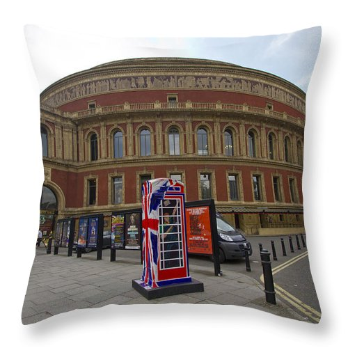 Royal Albert Hall Throw Pillow featuring the photograph Royal Albert Hall by David French