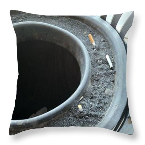 Marlene Burns Photography Throw Pillow featuring the photograph Rubbish by Marlene Burns