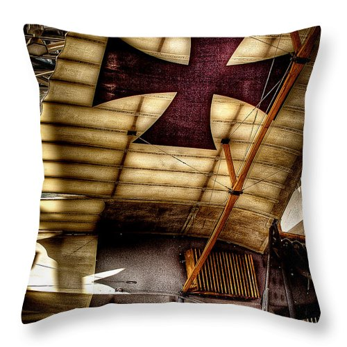 Rumpler Throw Pillow featuring the photograph Rumpler Taube The Dove by David Patterson