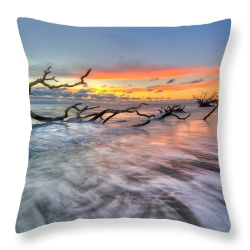 Clouds Throw Pillow featuring the photograph Rush by Debra and Dave Vanderlaan