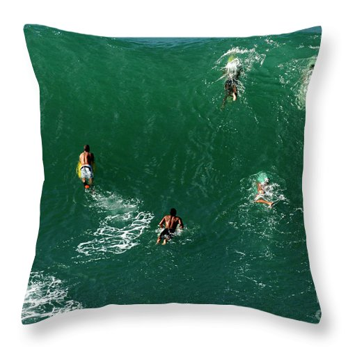 Hawaii Throw Pillow featuring the photograph Rush Hour Traffic by Bob Christopher