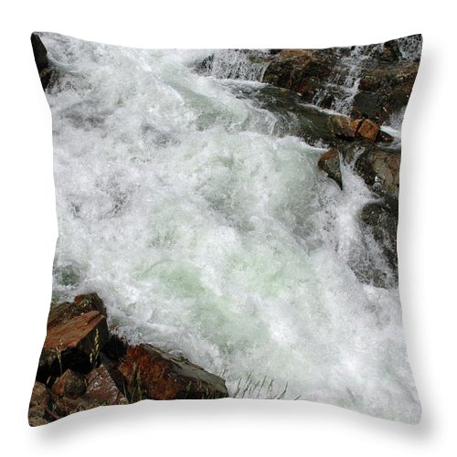 Usa Throw Pillow featuring the photograph Rushing Waters Glen Alpine Creek by LeeAnn McLaneGoetz McLaneGoetzStudioLLCcom