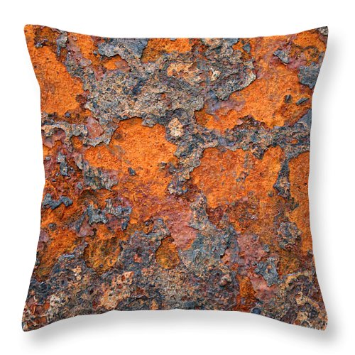Rust Throw Pillow featuring the photograph Rusting Away by Ric Bascobert