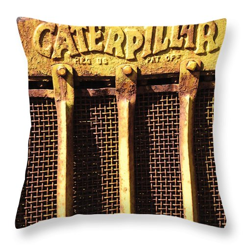 Caterpillar Throw Pillow featuring the photograph Rusty Caterpillar by Diego Re