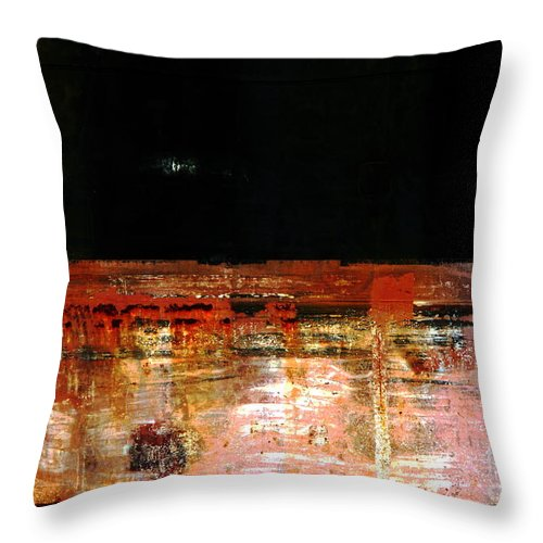 Rust Throw Pillow featuring the photograph Rusty Layers by Stephen Mitchell