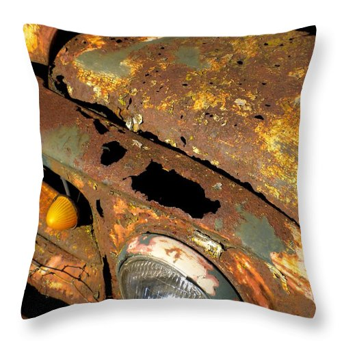 Rusty Throw Pillow featuring the painting Rusty by Renate Nadi Wesley