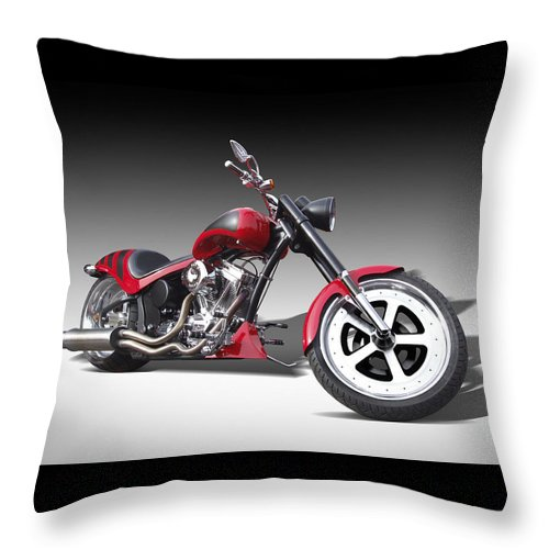 Sport Bike Throw Pillow featuring the photograph S And S Express by Mike McGlothlen
