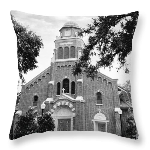 Sacred Heart Church Throw Pillow featuring the photograph Sacred Heart Church by Southern Tradition