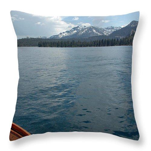 Usa Throw Pillow featuring the photograph Safari Rose.on Lake Tahoe by LeeAnn McLaneGoetz McLaneGoetzStudioLLCcom