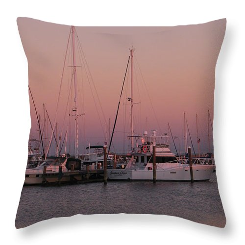 Harbor Throw Pillow featuring the photograph Safe Harbor by Brian Wright