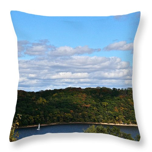 Landscape Throw Pillow featuring the photograph Sailing Summer Away by Susan Herber