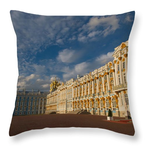 Built Structure Throw Pillow featuring the photograph Saint Catherine Palace by David Smith