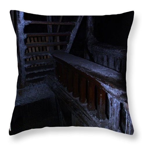 Salt Mine Throw Pillow featuring the photograph Salt Mine Entry by Amalia Suruceanu
