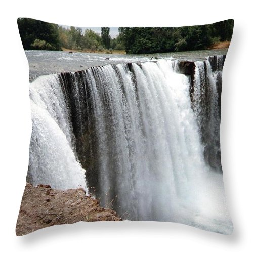Salto Del Laja Throw Pillow featuring the photograph Salto Del Laja - Waterfall by Ronald Osborne