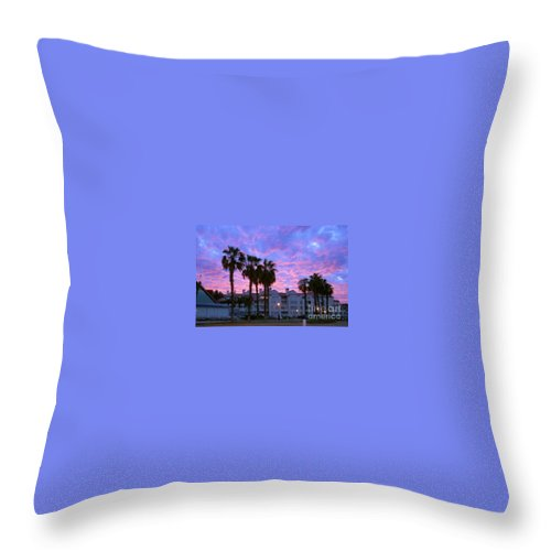 California Throw Pillow featuring the photograph San Diego Sunset by Mark McReynolds