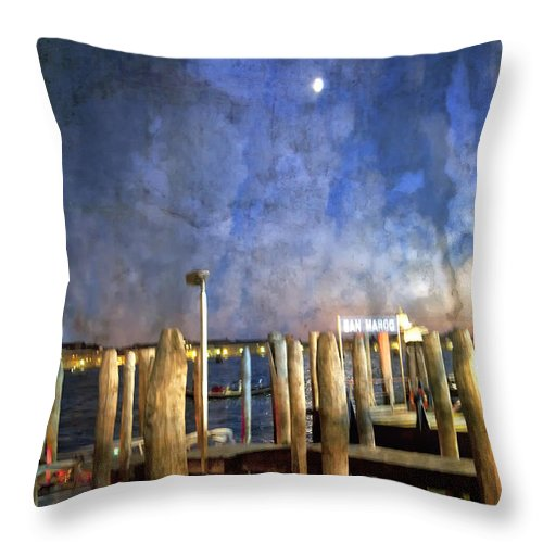 San Marco Throw Pillow featuring the photograph San Marco Dream by Madeline Ellis