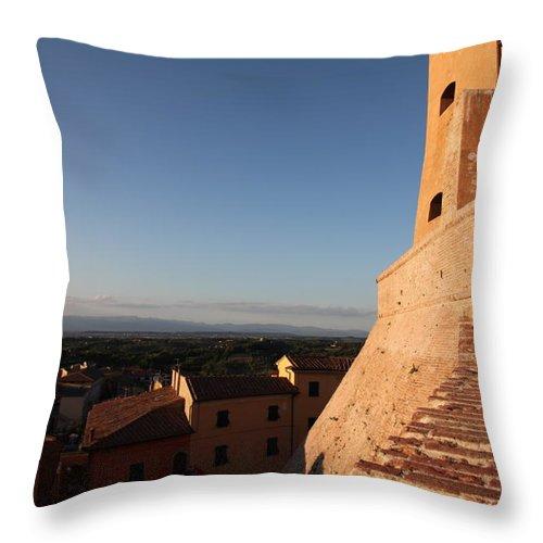 San Miniato Throw Pillow featuring the photograph San Miniato - Pisa by Francesco Scali