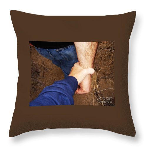 Battlefield Throw Pillow featuring the photograph San Pasqual Battlefield by Linda Shafer