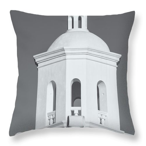 Clarence Holmes Throw Pillow featuring the photograph San Xavier Del Bac Mission Iv by Clarence Holmes