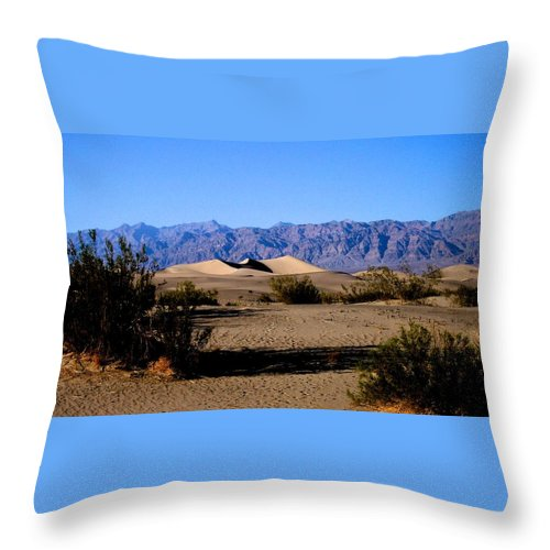 Sand Dunes Throw Pillow featuring the photograph Sand Dunes In Death Valley by Eric Tressler