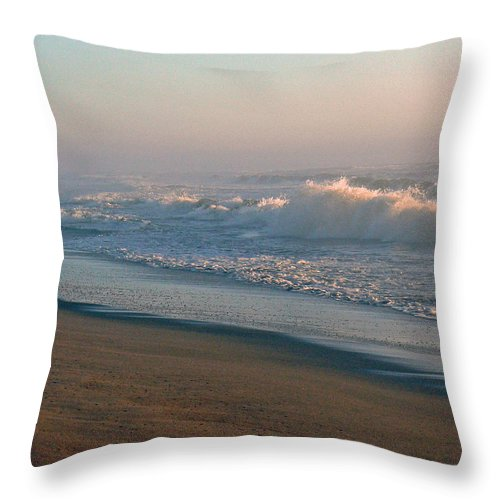 Nature Throw Pillow featuring the photograph Sand Sea And Sky by Pamela Patch