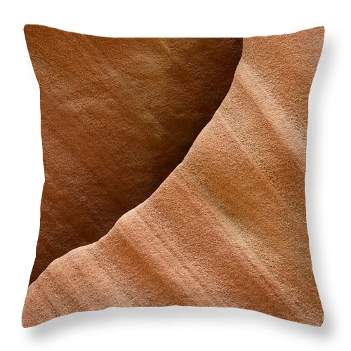 Beauty Of Sandstone Throw Pillow featuring the photograph Sandstone Detail by Bob Christopher
