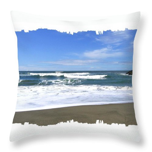 Seascape Throw Pillow featuring the photograph Sandy Shores Of Oregon by Will Borden