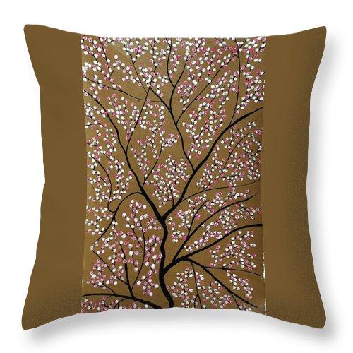 Spring Throw Pillow featuring the painting Sanshet Jann by Sumit Mehndiratta
